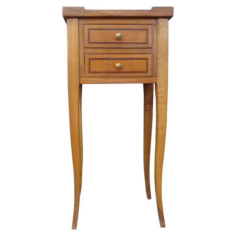 French Louis XVI Style Fruitwood Table or Nightstand For Sale
