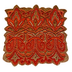 Set of Four Hand Beaded Placemats by Amy Seybert