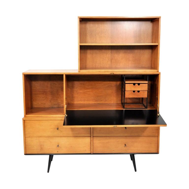 Rare Paul McCobb Drop Lid Desk Cabinet For Sale