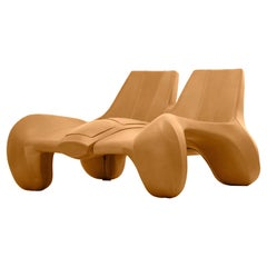 The Max Jungblut DC 114 Chaise Longue Upholstered in Golden Oak Aniline Leather