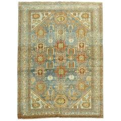 Beautiful Square Foyer Size Persian Malayer Rug