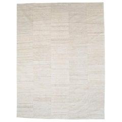 Beige Mid-20th Century Handmade Turkish Flatweave Kilim Room Size Carpet
