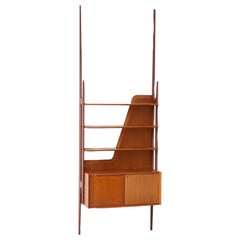 Sculptural Wall Unit in Teak by Dassi, Italy, 1950s