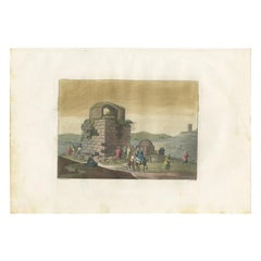 Antique Print of the Ruins of Rachel's Tomb by Ferrario '1831'