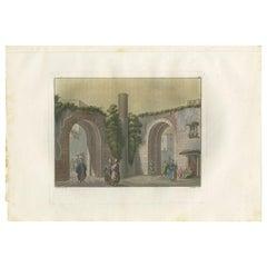 Antique Print of the Pillar of Jesus Christ's Death Sentence by Ferrario '1831'