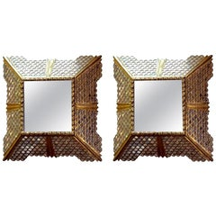 Pair of Square Spanish Colonial Mirrors