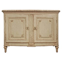French 18th Century Louis XVI Period Two-Door Bombee Shaped Commode