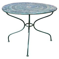 French Green Painted Garden Table