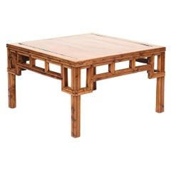 19th Century Chinese Qing Coffee Table in Peach Wood