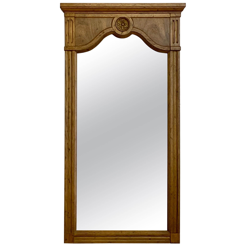 Vintage 1960s Solid Walnut Framed Wall Mirror