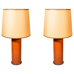 Jacques Adnet '1900-1984', Pair of Table Lamps, France, circa 1950