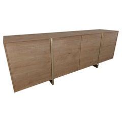 Sideboard in Wood with Golden Details, Hunter Sideboard