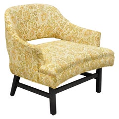 Vintage Mid Century Mod Upholstered Low Club Lounge Chair after Harvey Probber