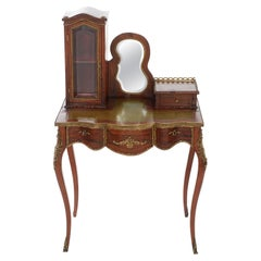 Louis XV Style Leather Top Ladies Writing Desk