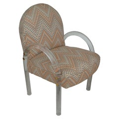 Charles Hollis Jones Waterfall Lucite Chair