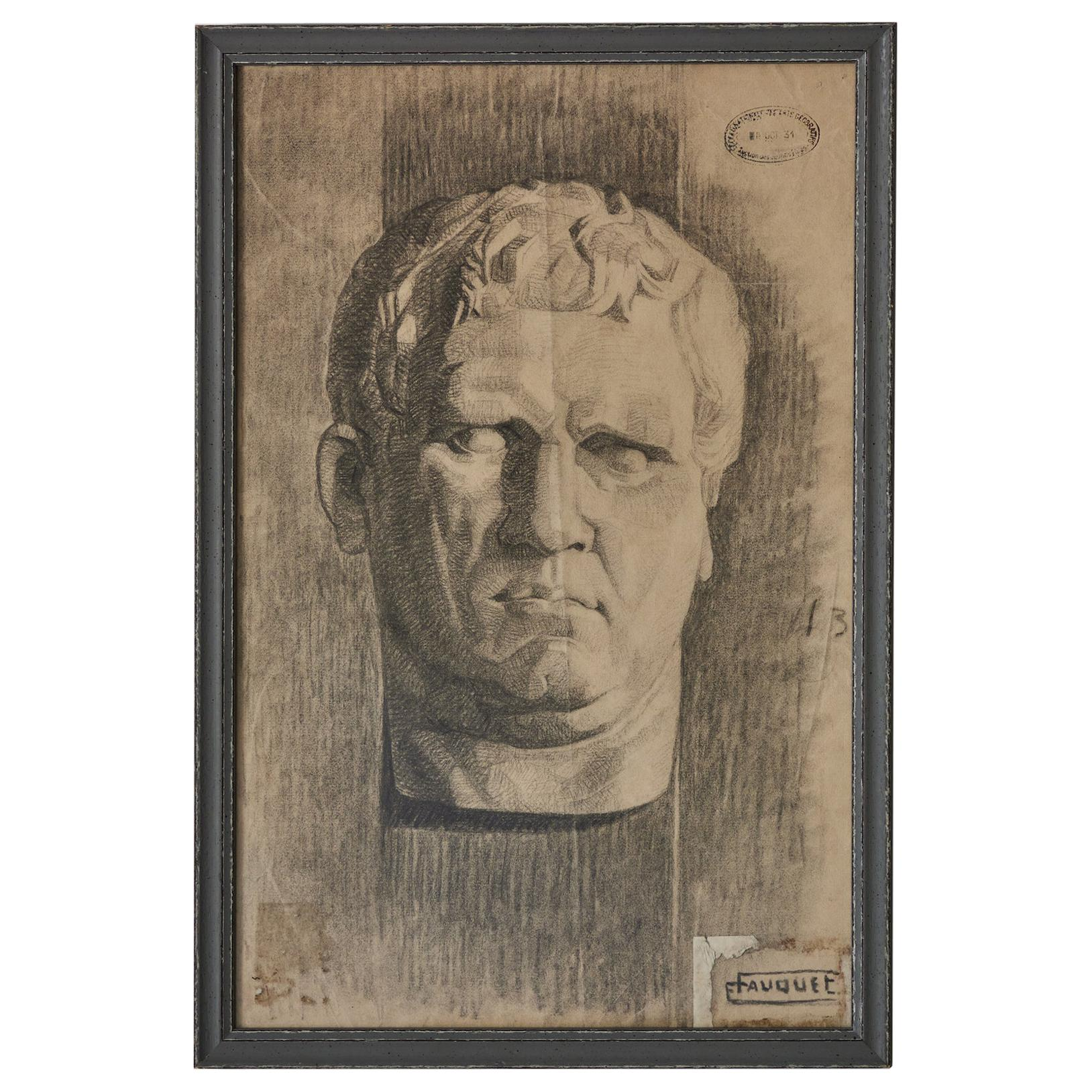 Charcoal Drawing of Bust