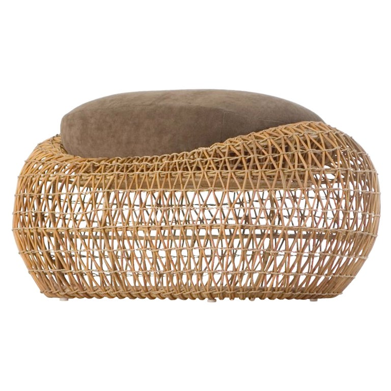 Indoor Balou Ottoman by Kenneth Cobonpue For Sale