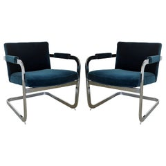70's Modern Cantilever Armchairs by Milo Baughman for Thayer Coggin
