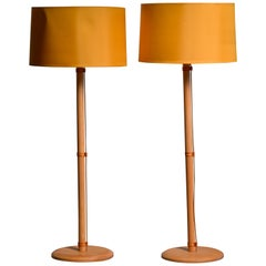Pair of Bergboms Birch Floor Lamps