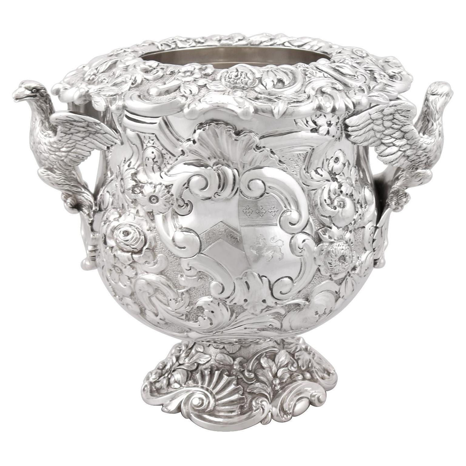Antique George III Sterling Silver Wine Cooler