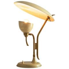 Lumen Milano Table Lamp in Beige Metal and Brass