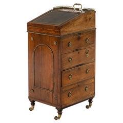 Fine Regency Mahogany Davenport Desk