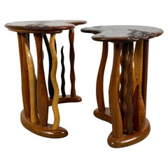 Incredible Mixed Exotic Wood Tables by Noted Craftsman Steven Spiro, Bespoke