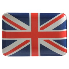 Red White and Blue Small London Flag Trinket Tray or Coaster