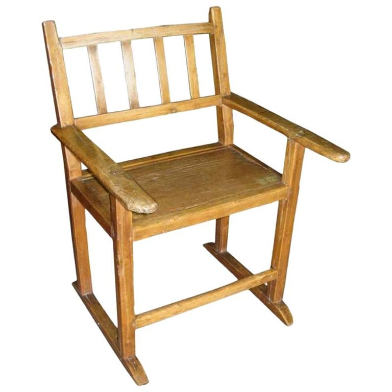 19th century molave wood kitchen chair for sale - Oak Kitchen Chairs