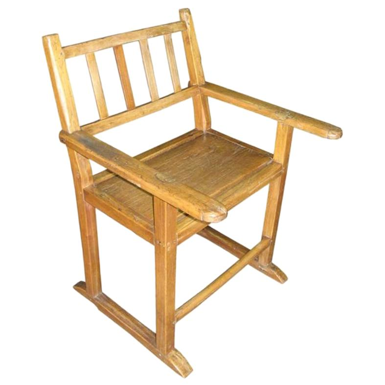 exceptional Wooden Kitchen Chairs For Sale Part - 11: 19th Century Molave Wood Kitchen Chair For Sale