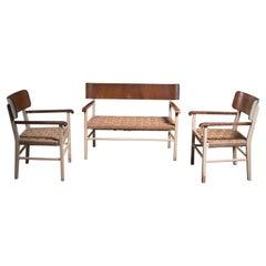 Light and Transparant Scandinavian Modern Sofa Set