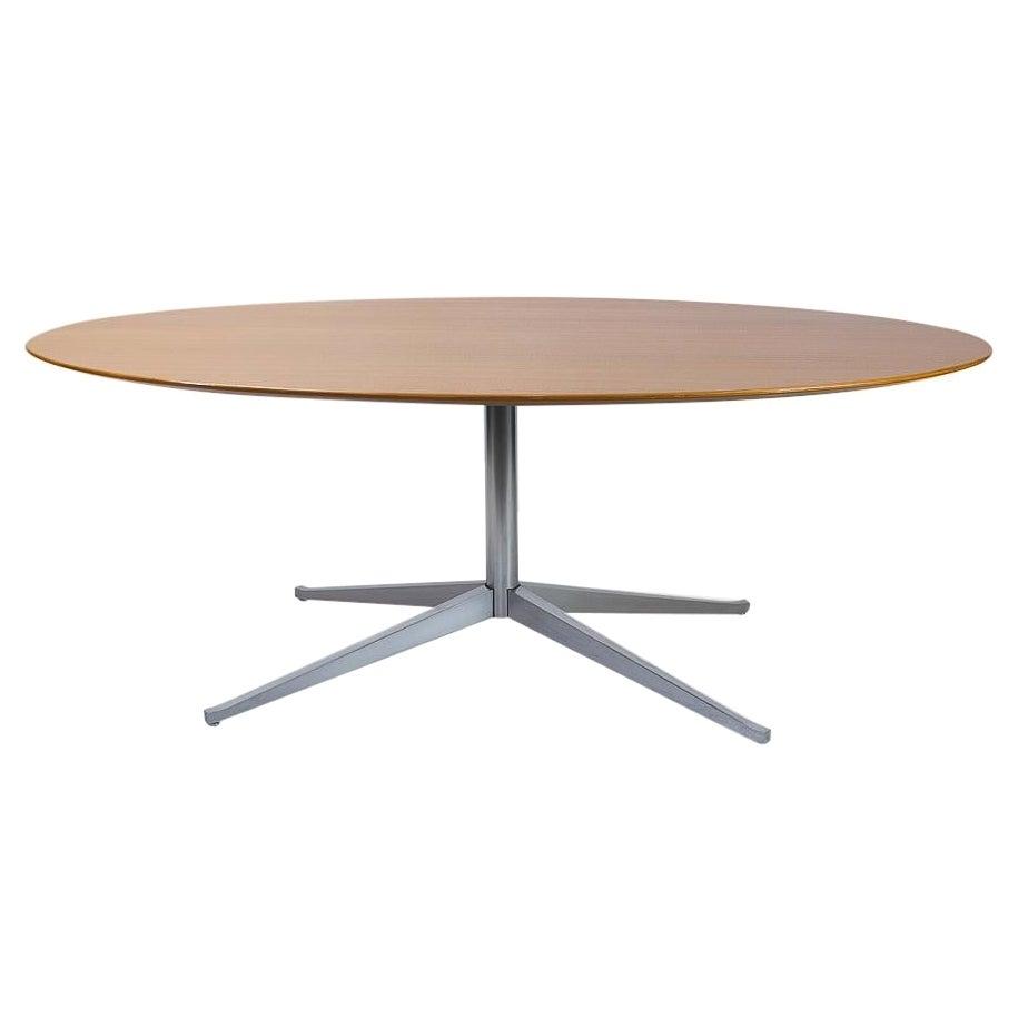 Florence Knoll Table Desk in Oak, Knoll International