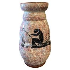 1930s Art Deco Ceramic Italian Vase by Bitossi