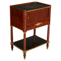 Neo Classical Style Mahogany Side Table Inset with Japan Lacquered Panels