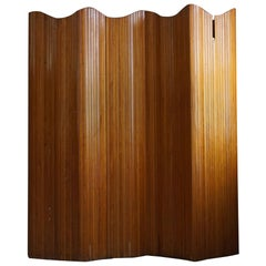 French Art Deco Room Divider in Patinated Pine by Firm Baumann, Paris, 1940s