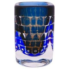 Blue Vase Ingeborg Lundin, Orrefors, Ariel 294-D