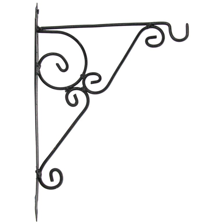 Wall Mounted Iron Bracket for Lanterns or Signs For Sale