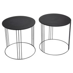 Pair of Italian Post-Modern Wire Side Tables, circa 1980s