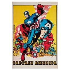 Captain America Vintage 1970s US Poster, Steranko