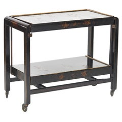 Antique Chinoiserie Cocktail Serving Trolley