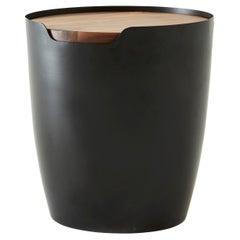 Metal Oak Tall Basin Coffee, Side Table by Hollis & Morris