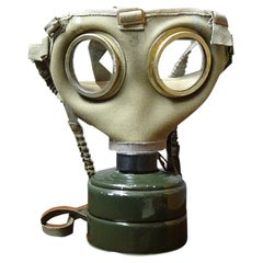 Industrial Upcycling Table Lamp Gas Mask, 1950s