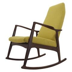 1960s Stylish Beech Rocking Chair, Czechoslovakia