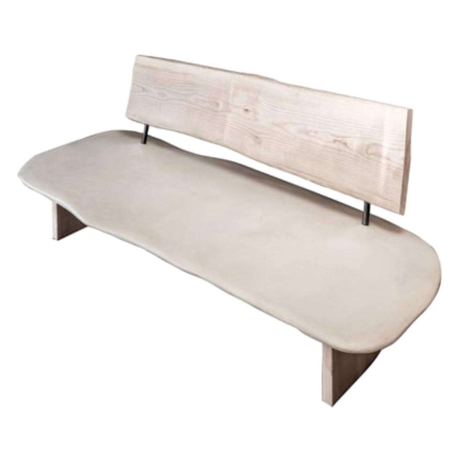 Stone Menaggio Bench by Studio Emblématique