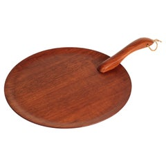 Danish Mid-Century Modern Teak Serving Plate or Cheese Board Similar to Bojesen