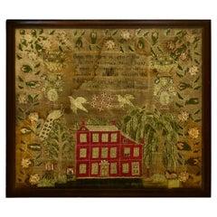 "American Children's Sampler by ""Nancy Brown"" Circa 1828"