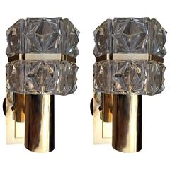 Pair of Austrian Crystal Kinkeldey Sconces