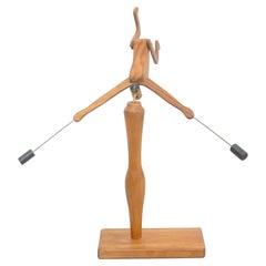 D.Invernon Equilibrist Wood Sculpture, 2020