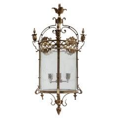 Antique Bronze Hall Lantern,France