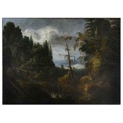Early 18th Century Italian Baroque Large Sized Landscape
